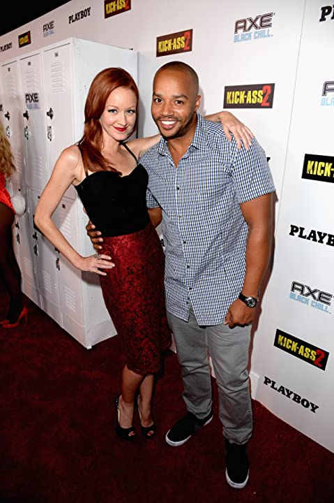 Lindy Booth and Donald Faison at an event for Kick-Ass 2 (2013)