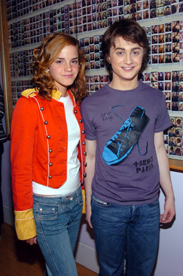 Daniel Radcliffe and Emma Watson at Harry Potter and the Prisoner of Azkaban (2004)