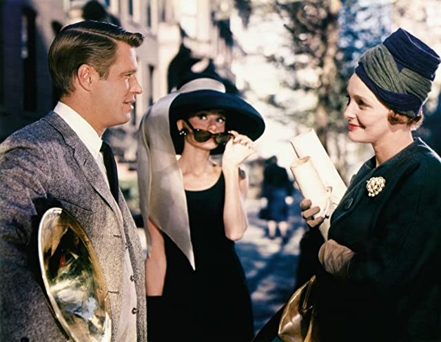 Audrey Hepburn, George Peppard, and Patricia Neal in Breakfast at Tiffany's (1961)