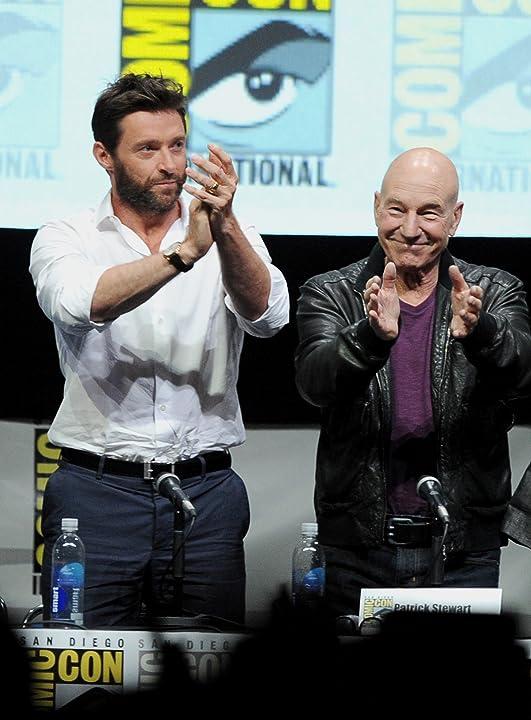 Patrick Stewart and Hugh Jackman at X-Men: Days of Future Past (2014)