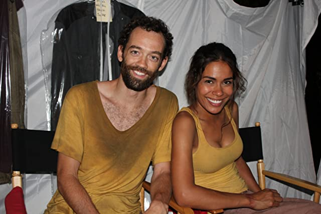Myke Holmes and Daniella Alonso on the set of Revolution (2012)
