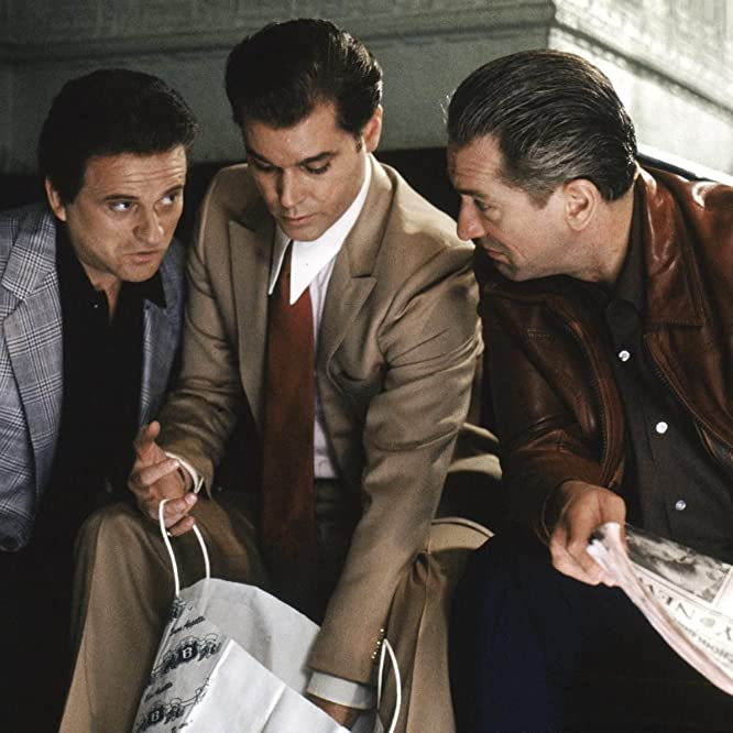 Robert De Niro, Ray Liotta, and Joe Pesci in Goodfellas (1990)