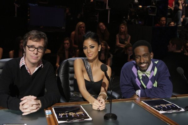 Shawn Stockman, Nicole Scherzinger, and Ben Folds in The Sing-Off (2009)