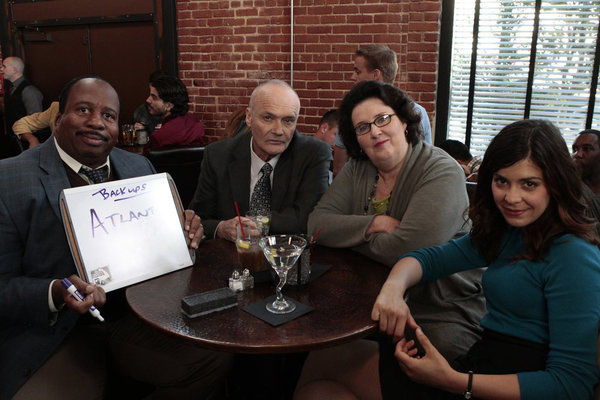Creed Bratton, Phyllis Smith, Leslie David Baker, and Stanley Hudson in The Office (2005)