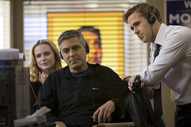 George Clooney, Ryan Gosling, and Evan Rachel Wood in The Ides of March (2011)