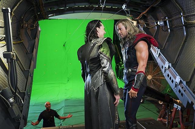 Tom Hiddleston and Chris Hemsworth in The Avengers (2012)