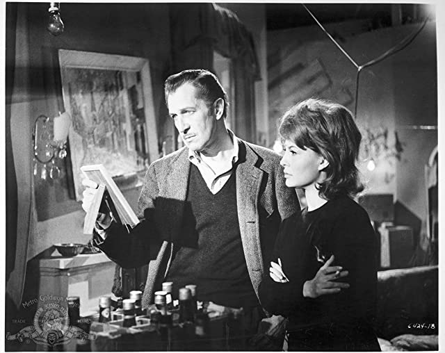 Vincent Price and Franca Bettoia in The Last Man on Earth (1964)