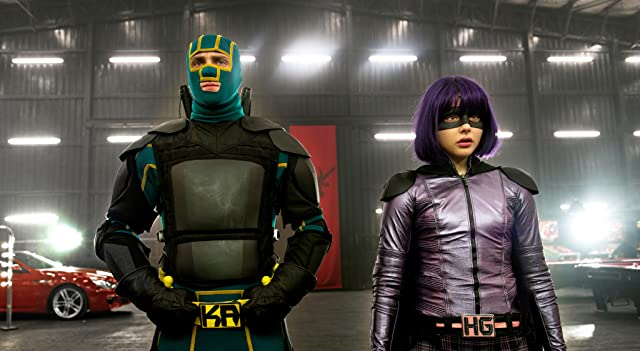 Aaron Taylor-Johnson and Chloë Grace Moretz in Kick-Ass 2 (2013)