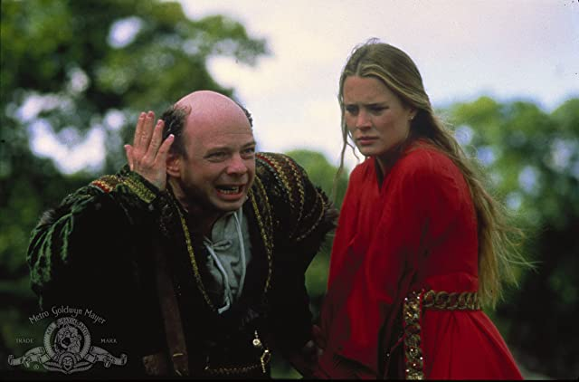 Robin Wright and Wallace Shawn in The Princess Bride (1987)