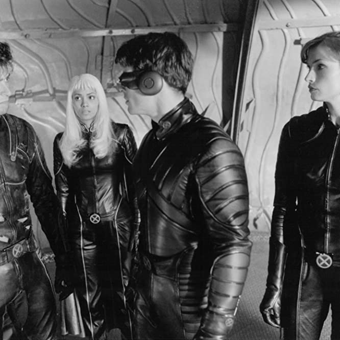 Famke Janssen, Halle Berry, James Marsden, and Hugh Jackman in X-Men (2000)