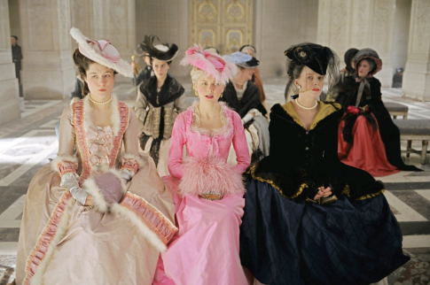 Kirsten Dunst, Judy Davis, and Mary Nighy in Marie Antoinette (2006)
