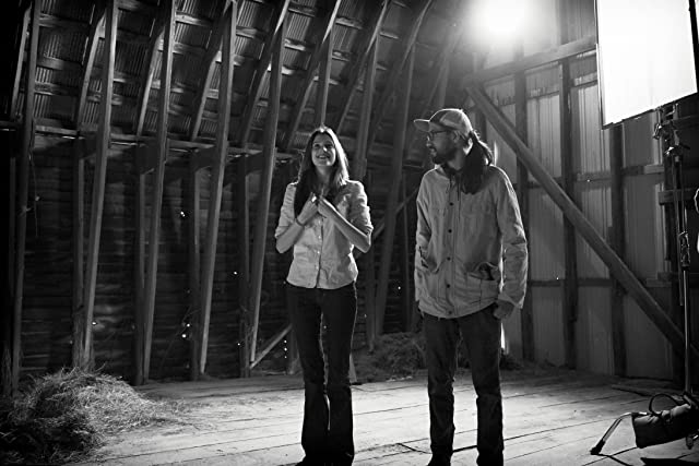 Alexia Fast and director Kevin Barker on the set of Last Kind Words.