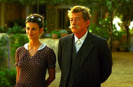 John Hurt and Penélope Cruz in Captain Corelli's Mandolin (2001)