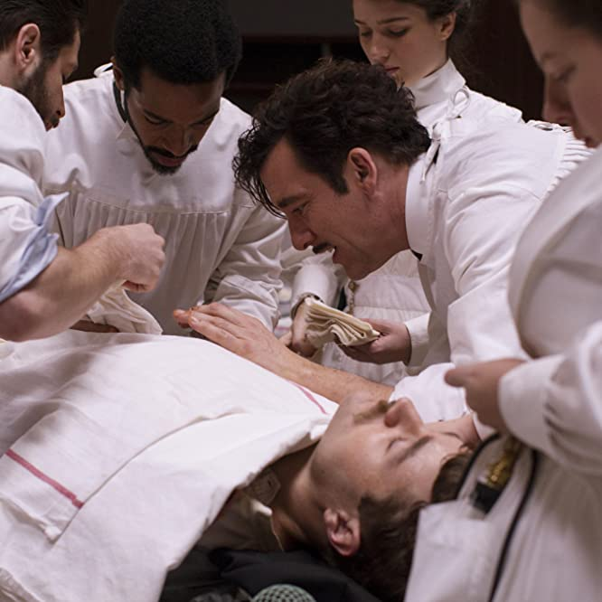 Clive Owen and André Holland in The Knick (2014)