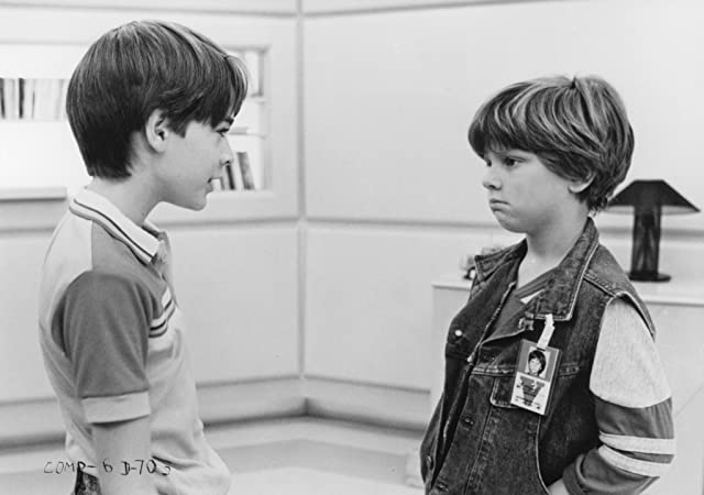 Danny Corkill and Barret Oliver in D.A.R.Y.L. (1985)