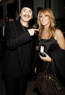 Carlos Santana and Dina Lohan at an event for 2005 American Music Awards (2005)