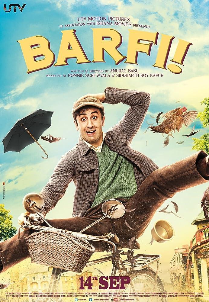 Barfi! 2012 Hindi 720p BluRay 300MB Movies
