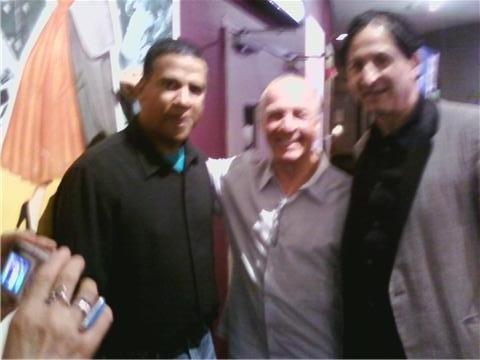 Luis Moro, Jackie Martling, Claudio Laniado; Red carpet at the Hoboken International Film Festival 2010 for the movies Santorini Blue, and Venus & Vegas