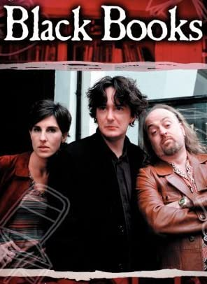 Bill Bailey, Tamsin Greig, and Dylan Moran in Black Books (2000)