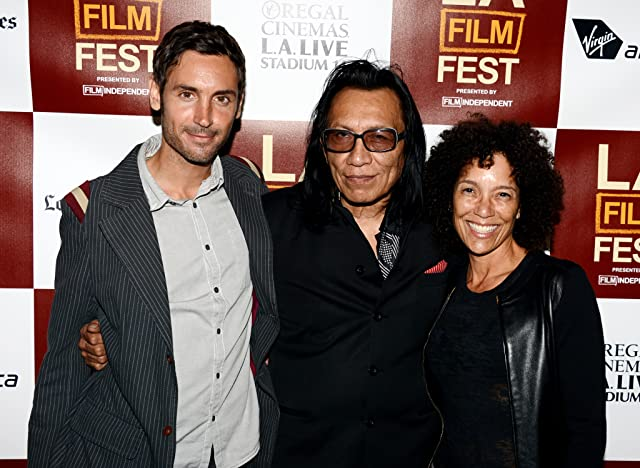 Stephanie Allain, Malik Bendjelloul, and Rodriguez at an event for Searching for Sugar Man (2012)