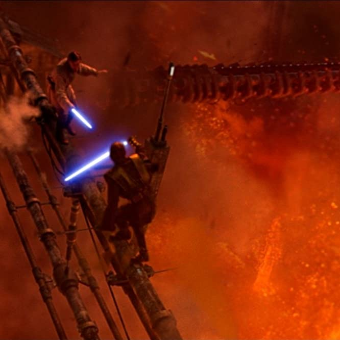 Ewan McGregor and Hayden Christensen in Star Wars: Episode III - Revenge of the Sith (2005)