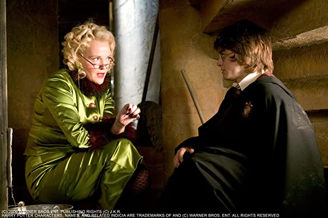 Miranda Richardson and Daniel Radcliffe in Harry Potter and the Goblet of Fire (2005)