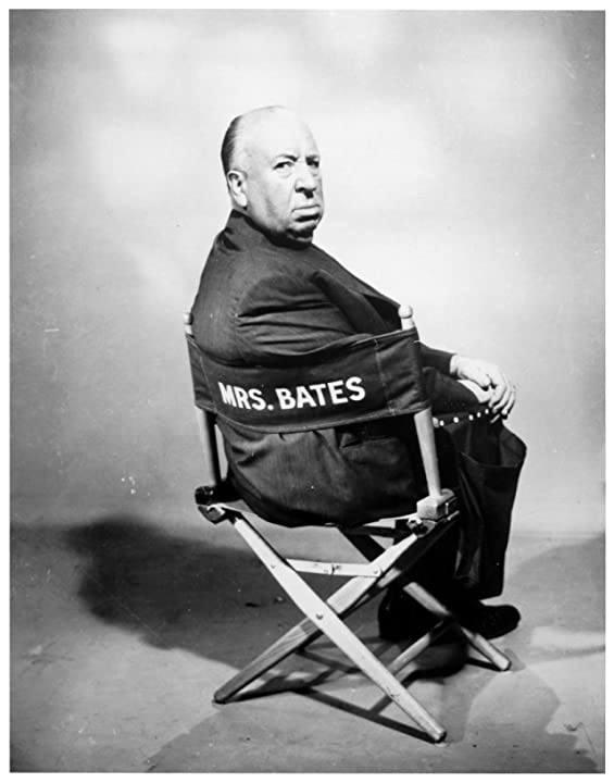Alfred Hitchcock in Psycho (1960)