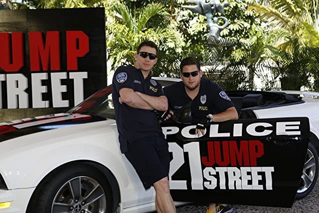 Channing Tatum and Jonah Hill at 21 Jump Street (2012)