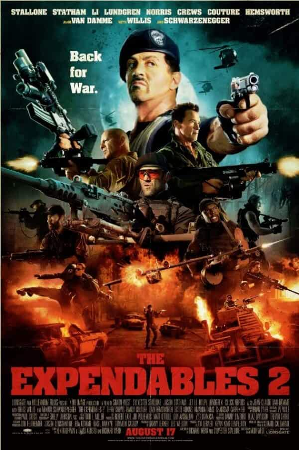 The Expendables 2 (2012) 720p BRRip Dual Audio full movie watch online free download