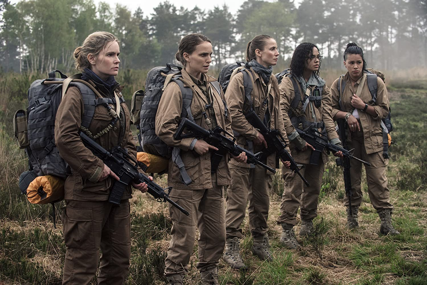 Natalie Portman, Jennifer Jason Leigh, Tuva Novotny, Gina Rodriguez, and Tessa Thompson in Annihilation (2018)
