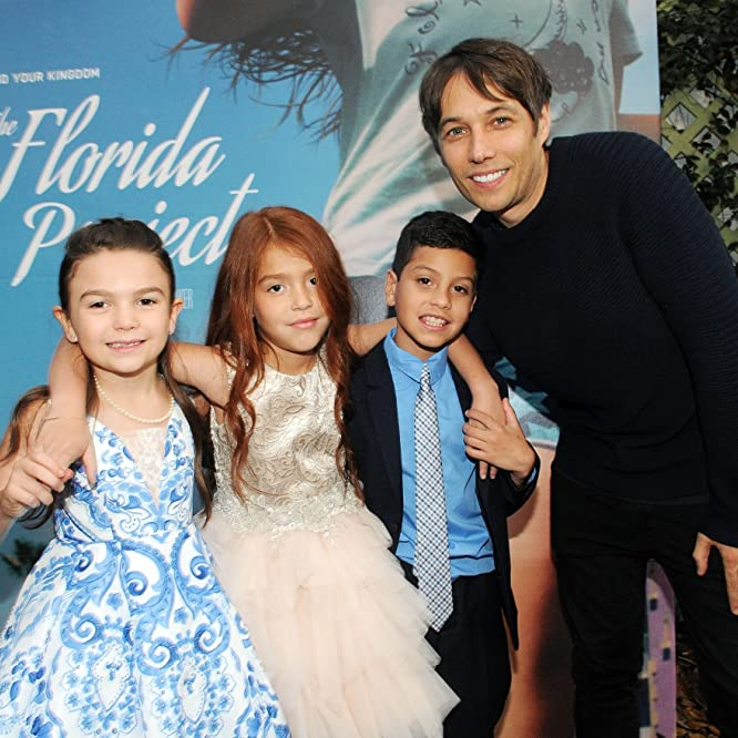 Sean Baker, Brooklynn Prince, Valeria Cotto, and Christopher Rivera at an event for The Florida Project (2017)