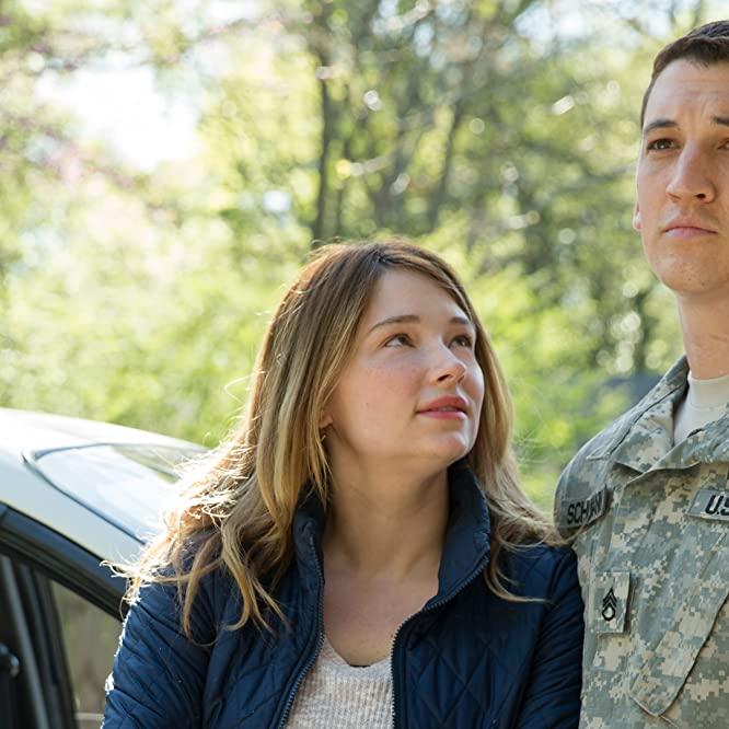 Miles Teller and Haley Bennett in Thank You for Your Service (2017)
