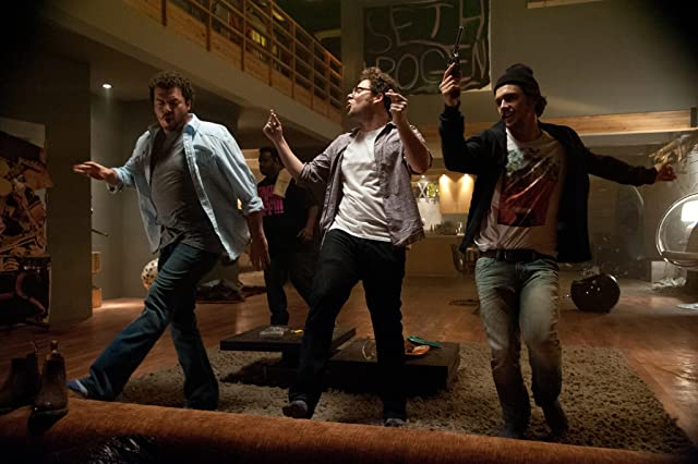 James Franco, Seth Rogen, and Danny McBride in This Is the End (2013)