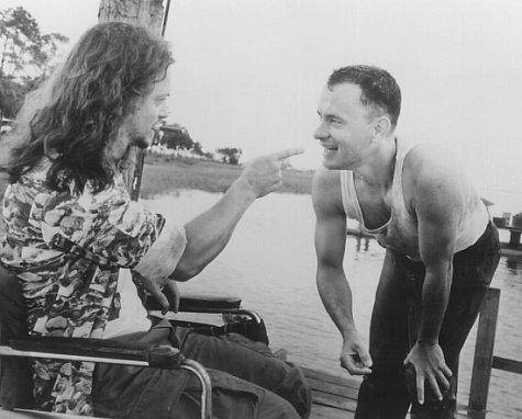 Tom Hanks and Gary Sinise in Forrest Gump (1994)
