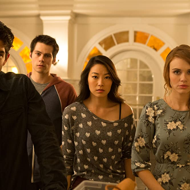 Tyler Posey, Holland Roden, Arden Cho, and Dylan O'Brien in Teen Wolf (2011)