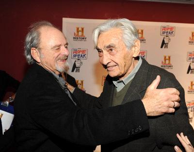 Harris Yulin and Howard Zinn at The People Speak (2009)