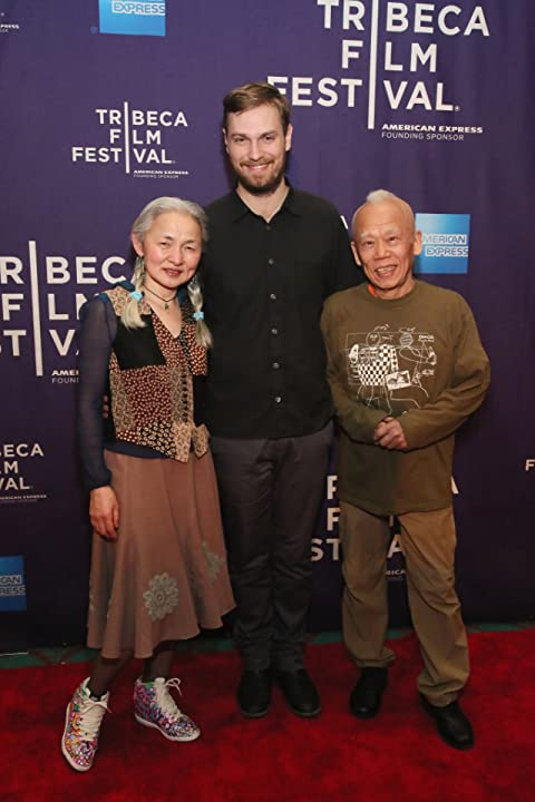 Zachary Heinzerling, Ushio Shinohara, and Noriko Shinohara at an event for Cutie and the Boxer (2013)