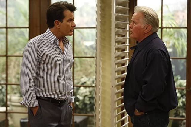 Charlie Sheen and Martin Sheen in Anger Management (2012)