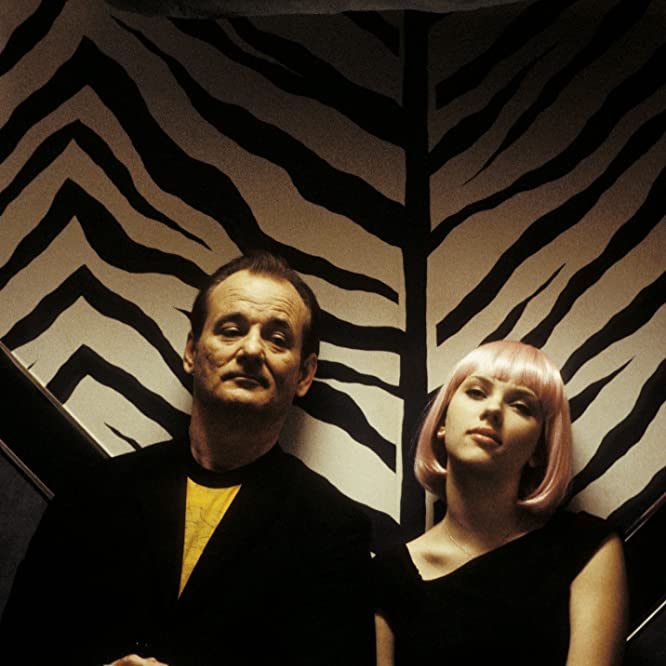 Bill Murray and Scarlett Johansson in Lost in Translation (2003)