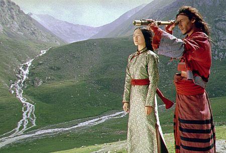 Chen Chang and Ziyi Zhang in Crouching Tiger, Hidden Dragon (2000)