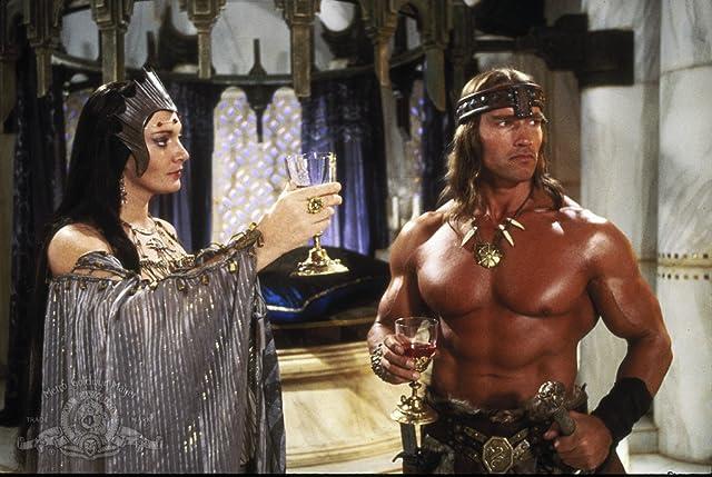 Arnold Schwarzenegger and Sarah Douglas in Conan the Destroyer (1984)