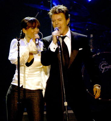 David Bowie and Alicia Keys