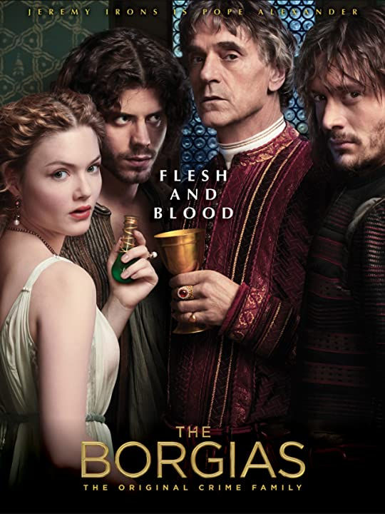 Jeremy Irons, Holliday Grainger, David Oakes, and François Arnaud in The Borgias (2011)