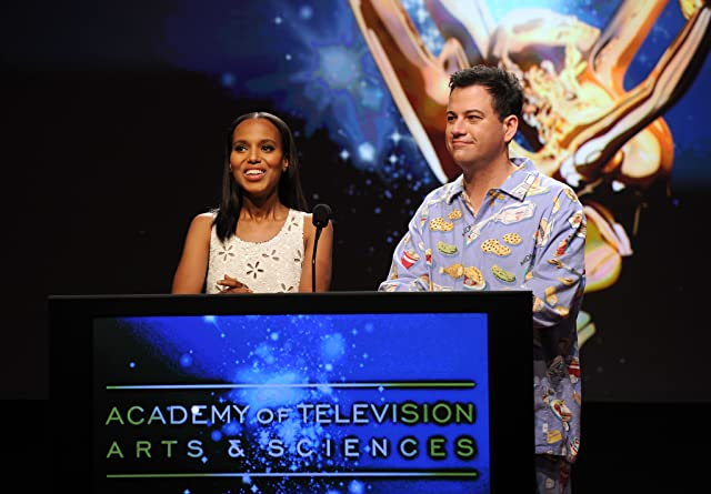 Jimmy Kimmel and Kerry Washington at The 64th Primetime Emmy Awards (2012)