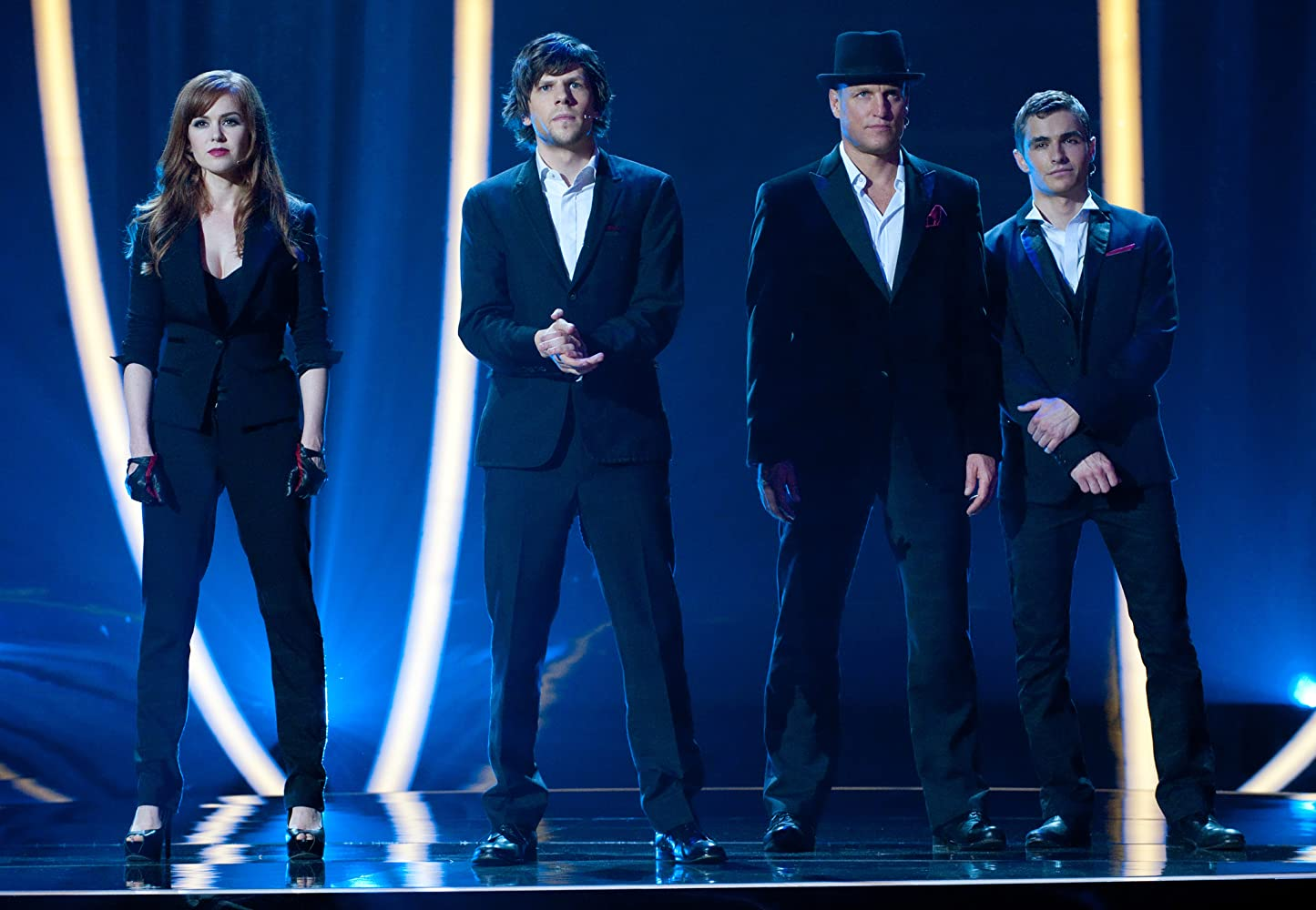 Woody Harrelson, Jesse Eisenberg, Isla Fisher, and Dave Franco in Now You See Me (2013)