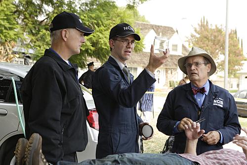 Mark Harmon, David McCallum, and Brian Dietzen in NCIS (2003)