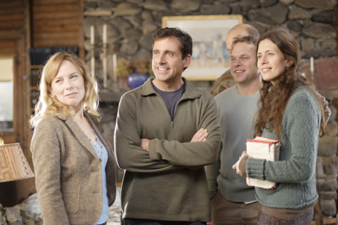 Norbert Leo Butz, Steve Carell, Jessica Hecht, and Amy Ryan in Dan in Real Life (2007)