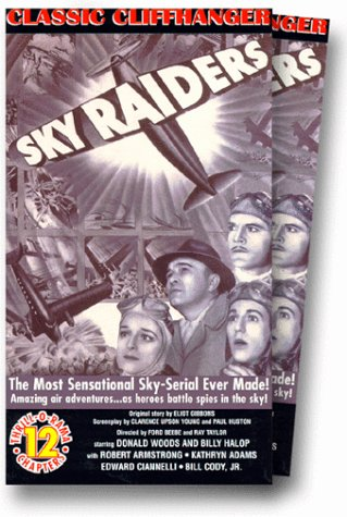 Kathryn Adams, Robert Armstrong, Billy Halop, and Donald Woods in Sky Raiders (1941)
