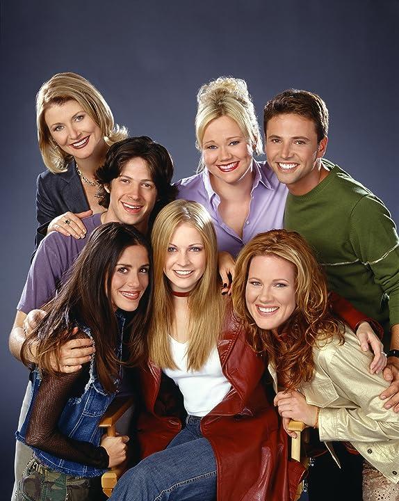 Soleil Moon Frye, Melissa Joan Hart, Caroline Rhea, Beth Broderick, Elisa Donovan, David Lascher, and Trevor Lissauer in Sabrina, the Teenage Witch (1996)