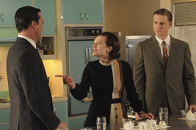 Elisabeth Moss, Jon Hamm, and Aaron Staton in Mad Men (2007)